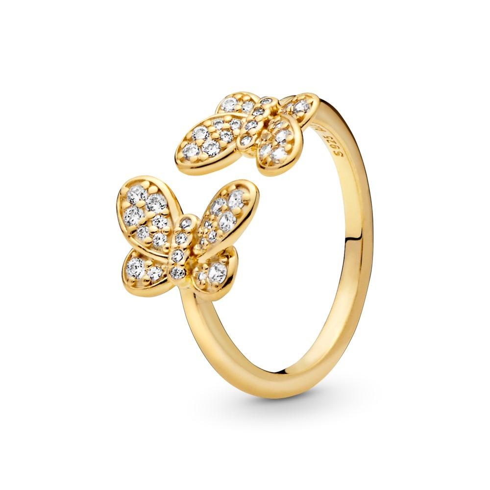 טבעת SHINE פתוחה פרפרים מנצנצים