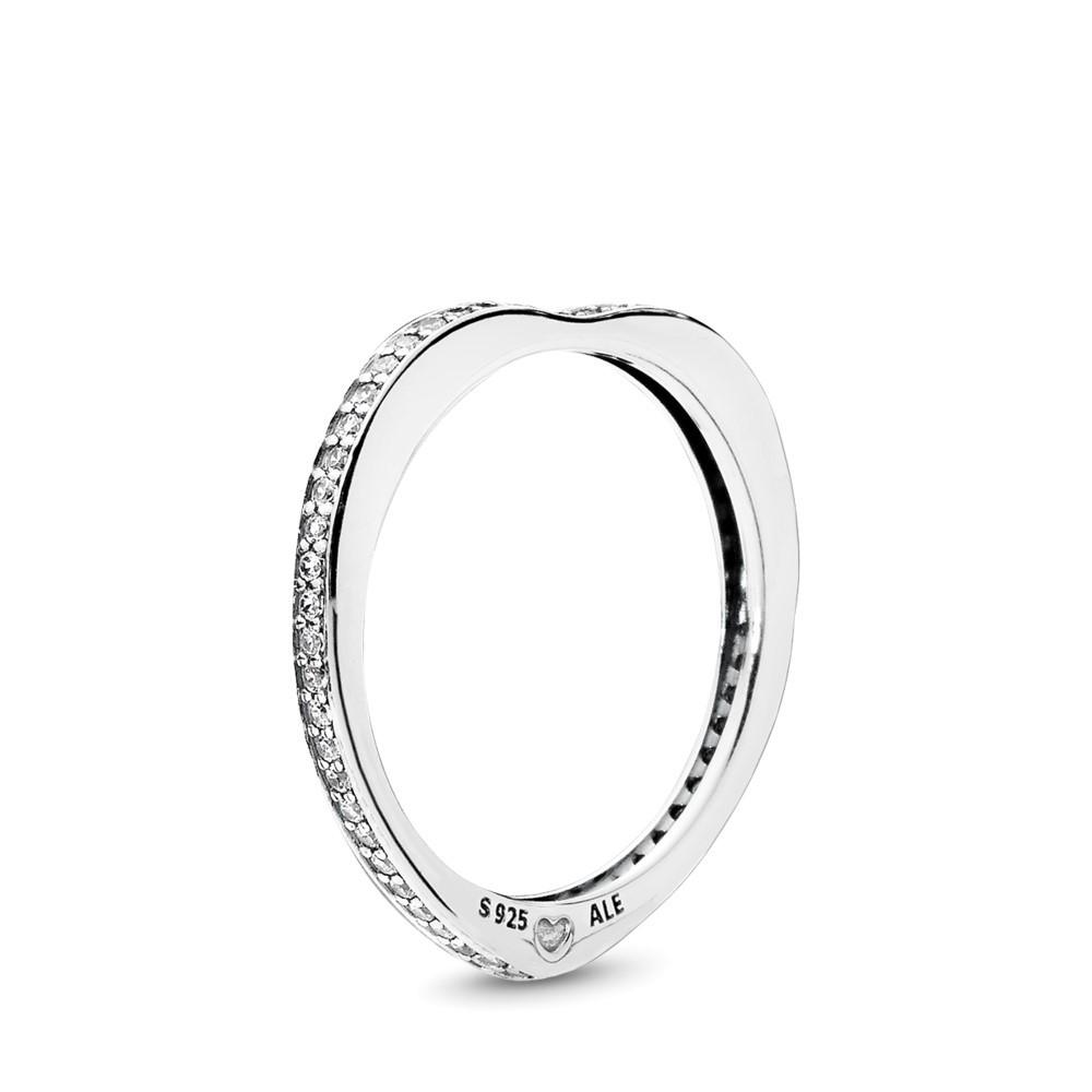 טבעת כסף קשתות אהבה נוצצות