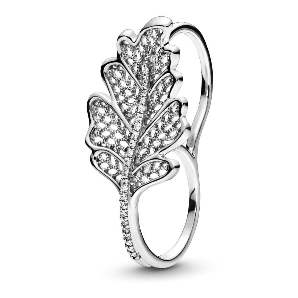 טבעת כסף כפולה עלה עץ האלון