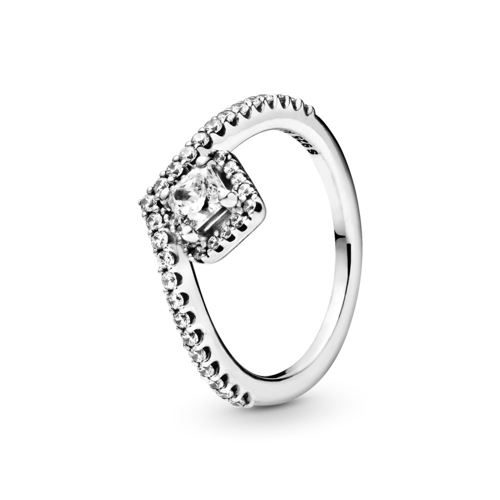 טבעת כסף משאלה קלאסית מרובעת