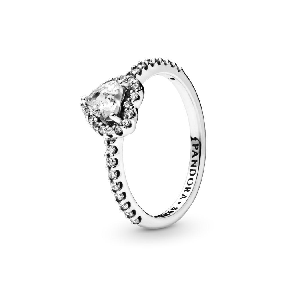 טבעת כסף לב מרחף