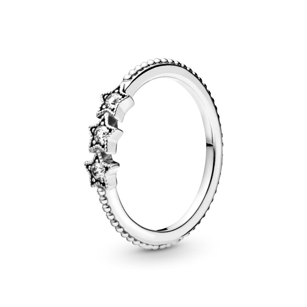 טבעת כסף כוכבים שמיימים