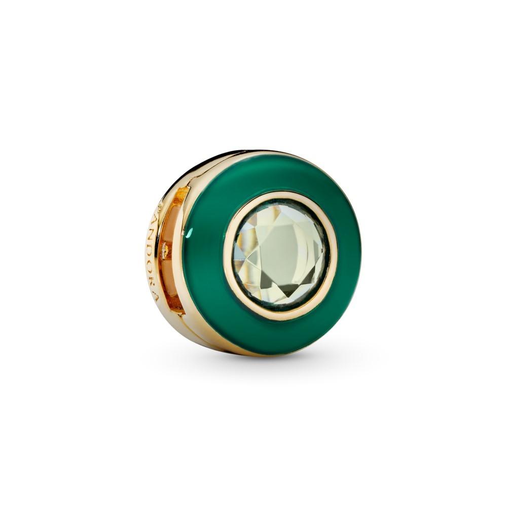 קליפס SHINE שטוח מעגל ירוק קורן
