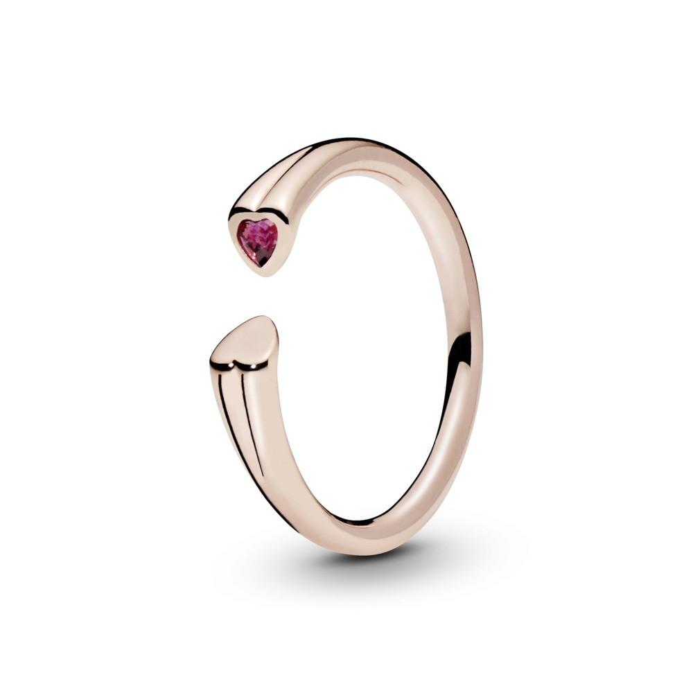 טבעת PANDORA רוז שני לבבות