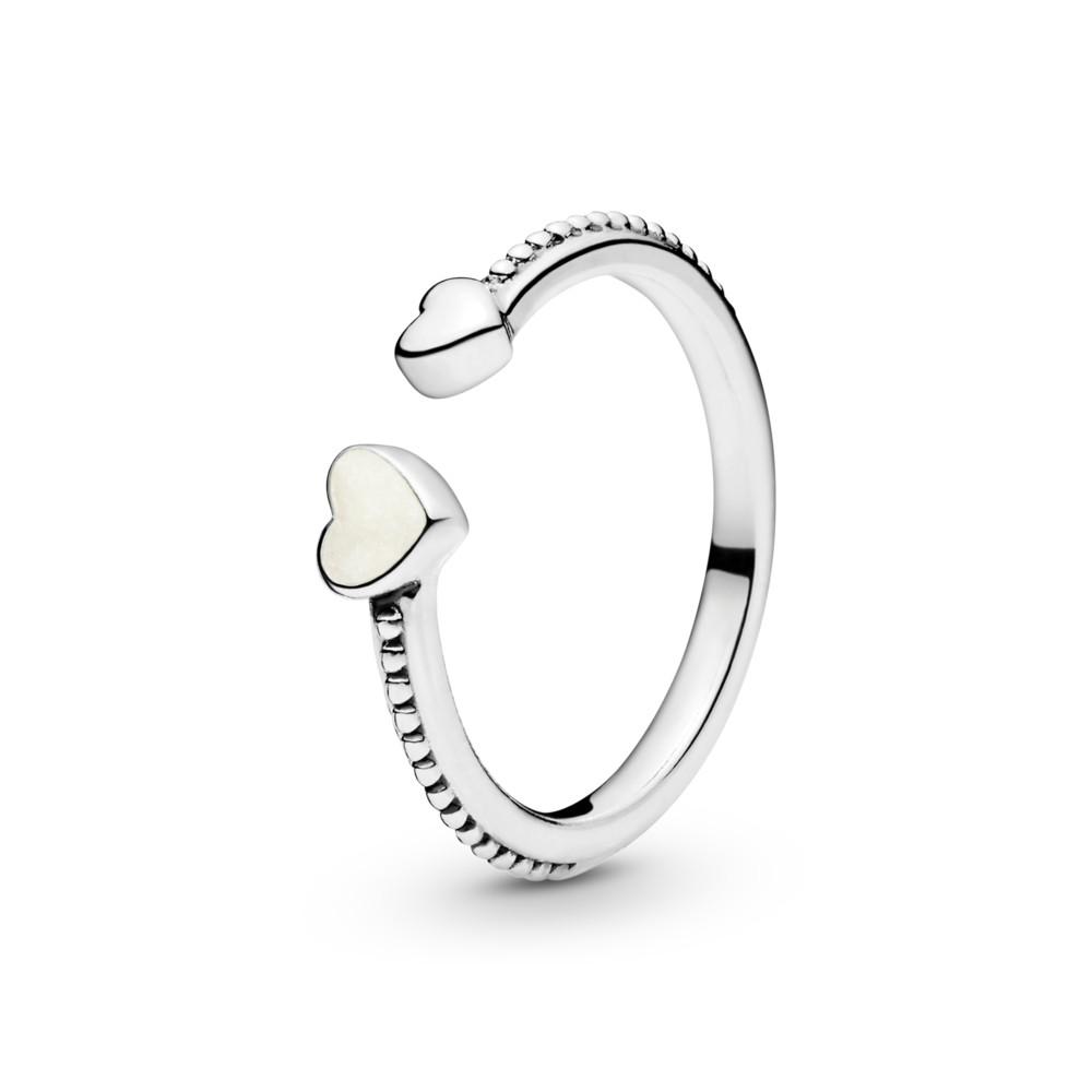 טבעת כסף לבבות אוהבים