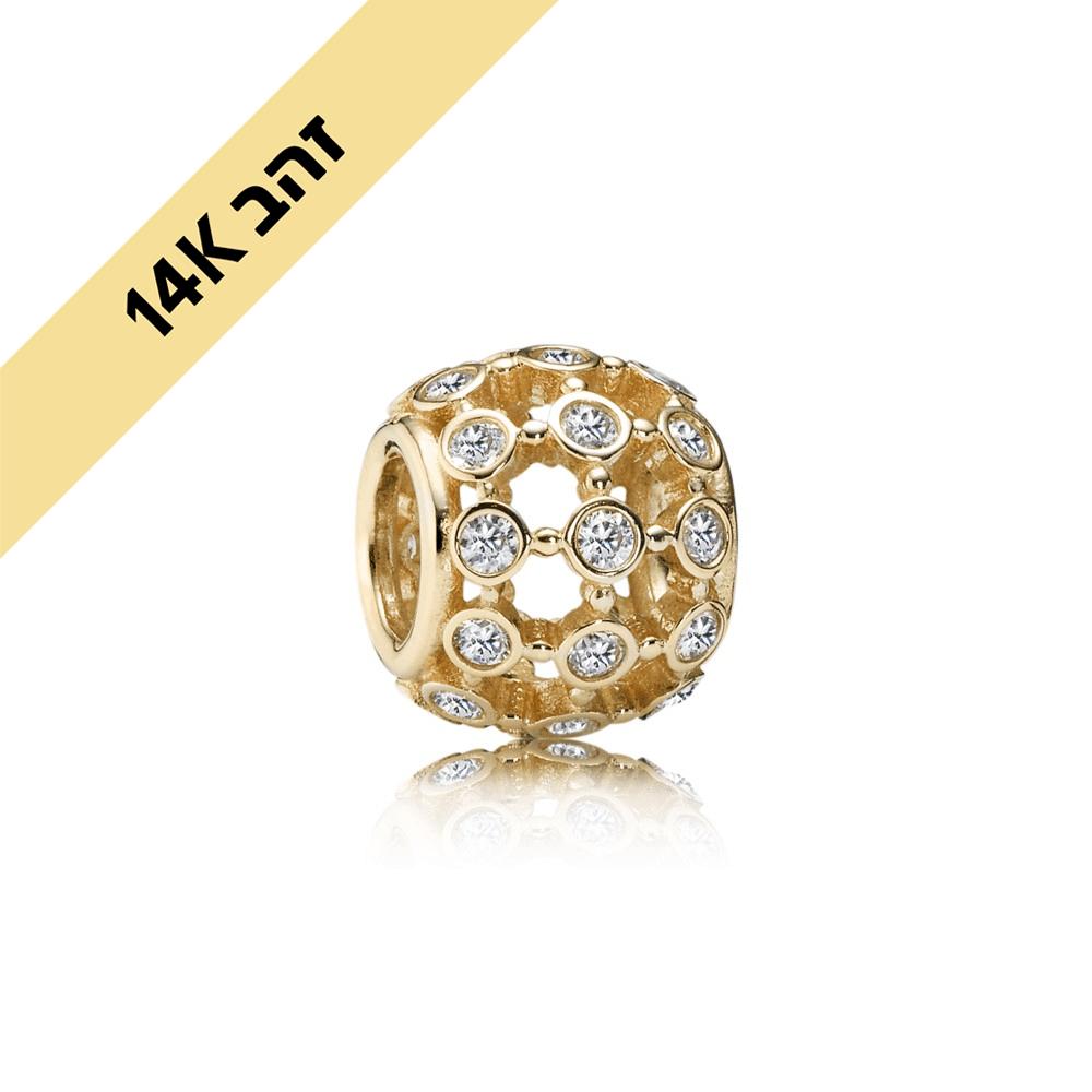צארמ אור הזרקורים זהב 14K בשיבוץ זרקונים